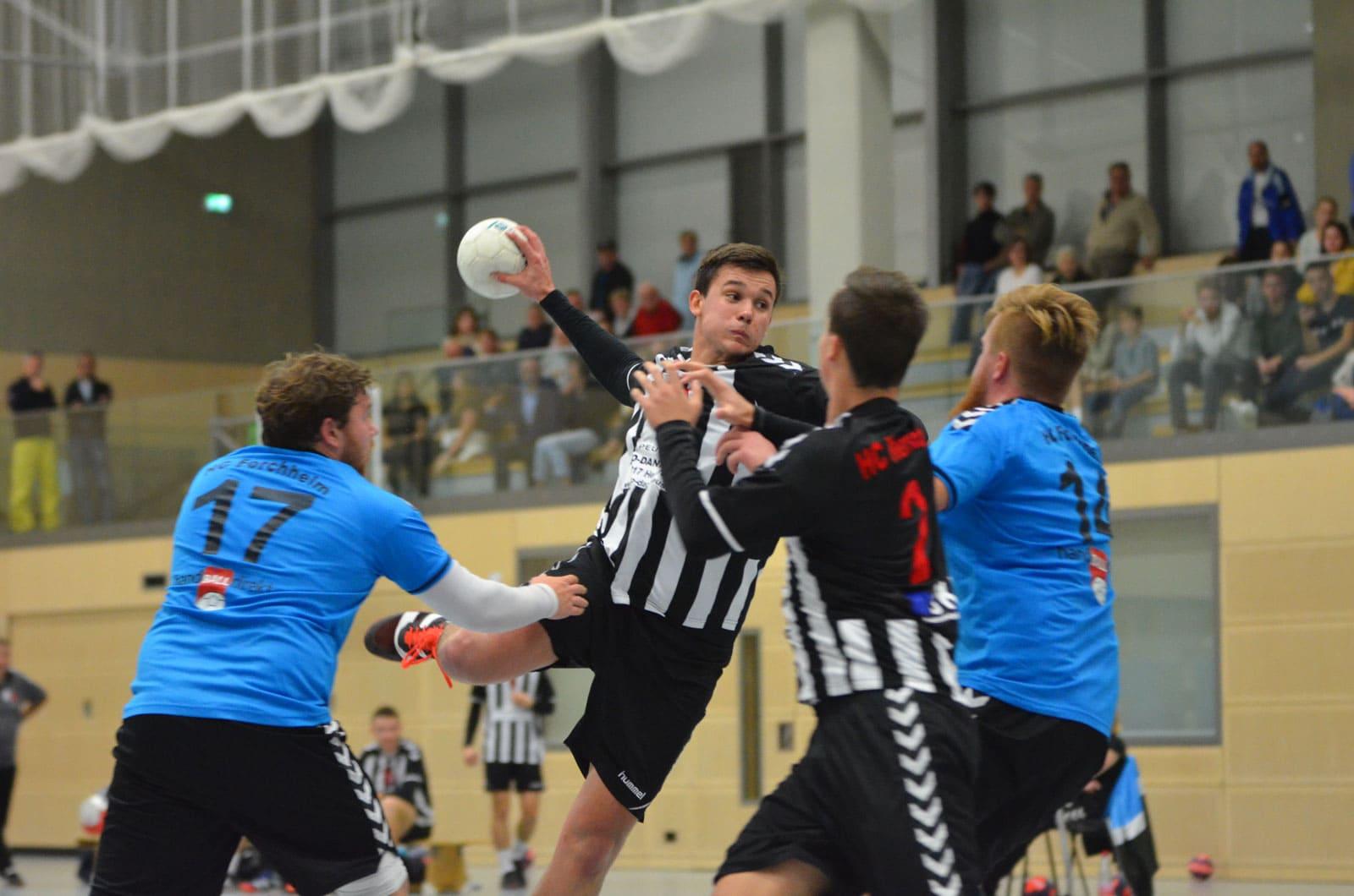 Erwachsenen Handball Sprungwurf